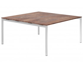 Lasso H-Leg 6-8 Person Meeting Table (Rusted Steel)