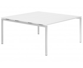 Campos H-Leg 6-8 Person Meeting Table (White)