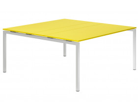 Campos H-Leg 6-8 Person Meeting Table (Yellow)