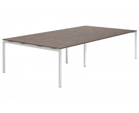 Lasso H-Leg 10-12 Person Meeting Table (Pitted Steel)