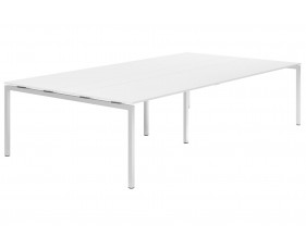 Campos H-Leg 10-12 Person Meeting Table (White)