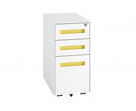 Solero Steel Narrow Pedestal (Yellow)
