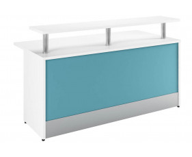 Solero Reception Desk (Light Blue)