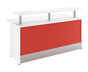 Campos Reception Desk (Red)
