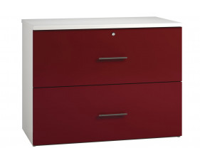 Next-Day Illusion Side Filing Cabinet Burgundy Gloss