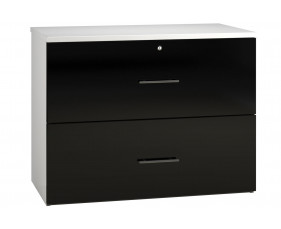 Next-Day Illusion Side Filing Cabinet Black Gloss