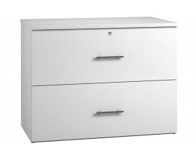 Illusion Side Filing Cabinet White Gloss