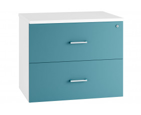Solero Side Filing Cabinet (Light Blue)
