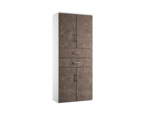Delgado Cupboard Combination 6 (Pitted Steel)
