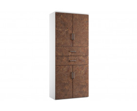 Delgado Cupboard Combination 6 (Rusted Steel)