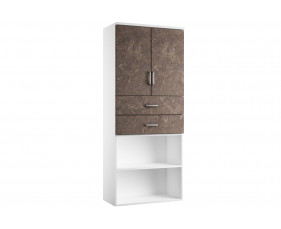Delgado Cupboard Combination 4 (Pitted Steel)