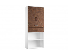 Delgado Cupboard Combination 4 (Rusted Steel)