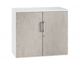 Delgado 1 Shelf Cupboard (Concrete)