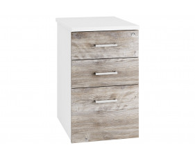 Delgado Desk High Pedestal (Platinum Oak)