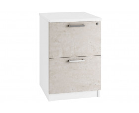 Delgado 2 Drawer Filing Cabinet (Concrete)