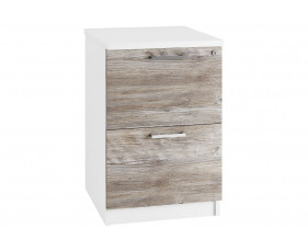 Lasso 2 Drawer Filing Cabinet (Platinum Oak)