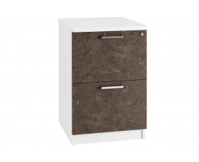 Delgado 2 Drawer Filing Cabinet (Pitted Steel)