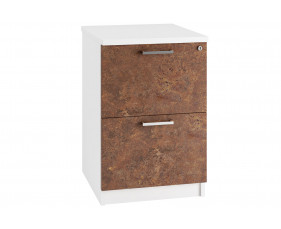 Delgado 2 Drawer Filing Cabinet (Rusted Steel)