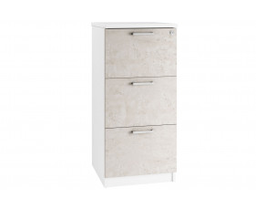 Delgado 3 Drawer Filing Cabinet (Concrete)