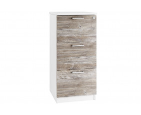 Lasso 3 Drawer Filing Cabinet (Platinum Oak)