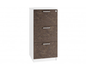 Lasso 3 Drawer Filing Cabinet (Pitted Steel)