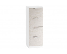 Lasso 4 Drawer Filing Cabinet (Concrete)