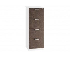 Delgado 4 Drawer Filing Cabinet (Pitted Steel)
