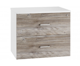 Lasso Side Filing Cabinet (Platinum Oak)