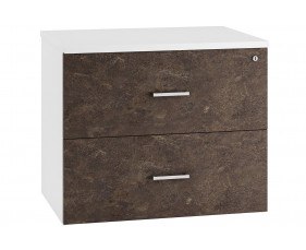 Lasso Side Filing Cabinet (Pitted Steel)