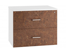 Lasso Side Filing Cabinet (Rusted Steel)