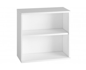 Astrada 1 Shelf Bookcase (White)