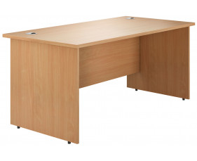 Astrada Panel End Rectangular Desk (Beech)