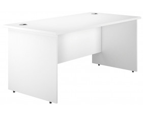 Astrada Panel End Rectangular Desk (White)