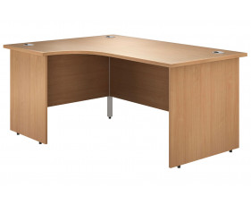 Astrada Panel End Left Hand Ergonomic Desk (Beech)