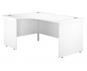 Astrada Panel End Left Hand Ergonomic Desk (White)