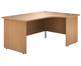 Astrada Panel End Right Hand Ergonomic Desk (Beech)