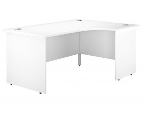 Astrada Panel End Right Hand Ergonomic Desk (White)