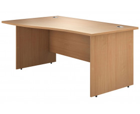 Astrada Panel End Left Hand Wave Desk (Beech)