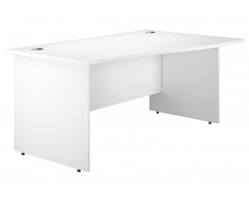 Astrada Panel End Right Hand Wave Desk (White)