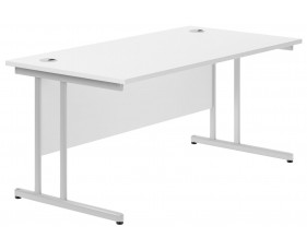 Astrada C-Leg Rectangular Desk (White)