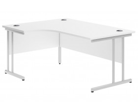 Astrada C-Leg Left Hand Ergonomic Desk (White)