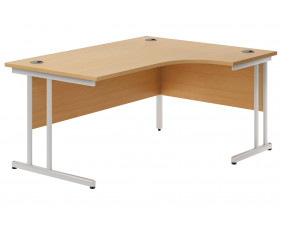 Astrada C-Leg Right Hand Ergonomic Desk (Beech)