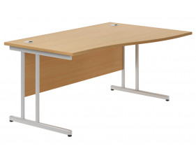 Astrada C-Leg Right Hand Wave Desk (Beech)