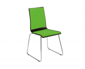 Cassie Sled Base Chair With Upholstered Seat & Back