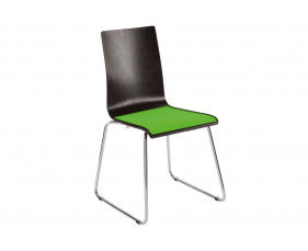 Cassie Sled Base Chair With Upholstered Seat