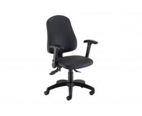 Orchid Ergonomic PU Operator Chair With Lumbar Pump & Folding Arms