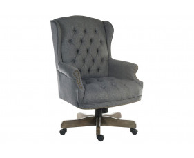 Chairman Swivel Chair Grey Fabric