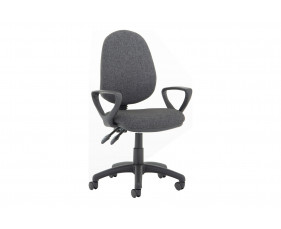 Lunar Plus 2 Lever Fabric Operator Chair (Fixed Arms)