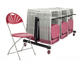 Comfort Folding Chair Bundle Deal (84 Chairs & 1 Low Trolley)
