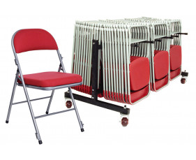 Deluxe Folding Chair Bundle Deal (30 Chairs & 1 Trolley)